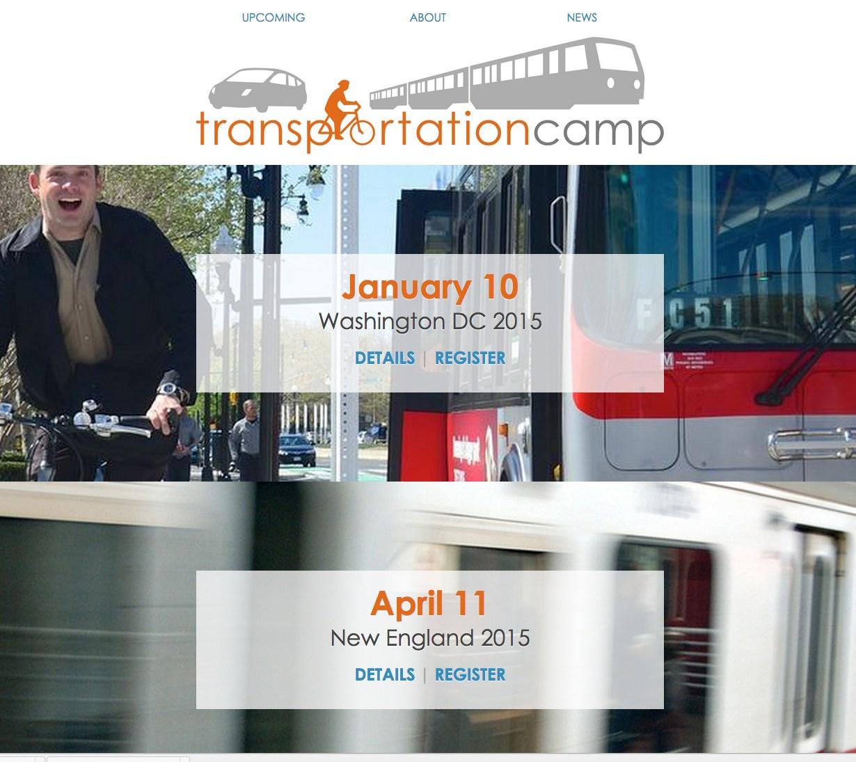Transportation Camp website screenshot - November 2014