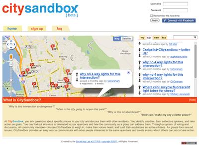 citysandbox home page