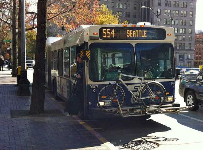 Seattle Bus with Bike