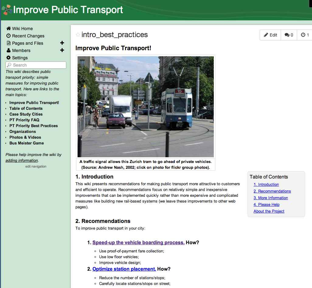Improve Public Transport Wiki (2014)