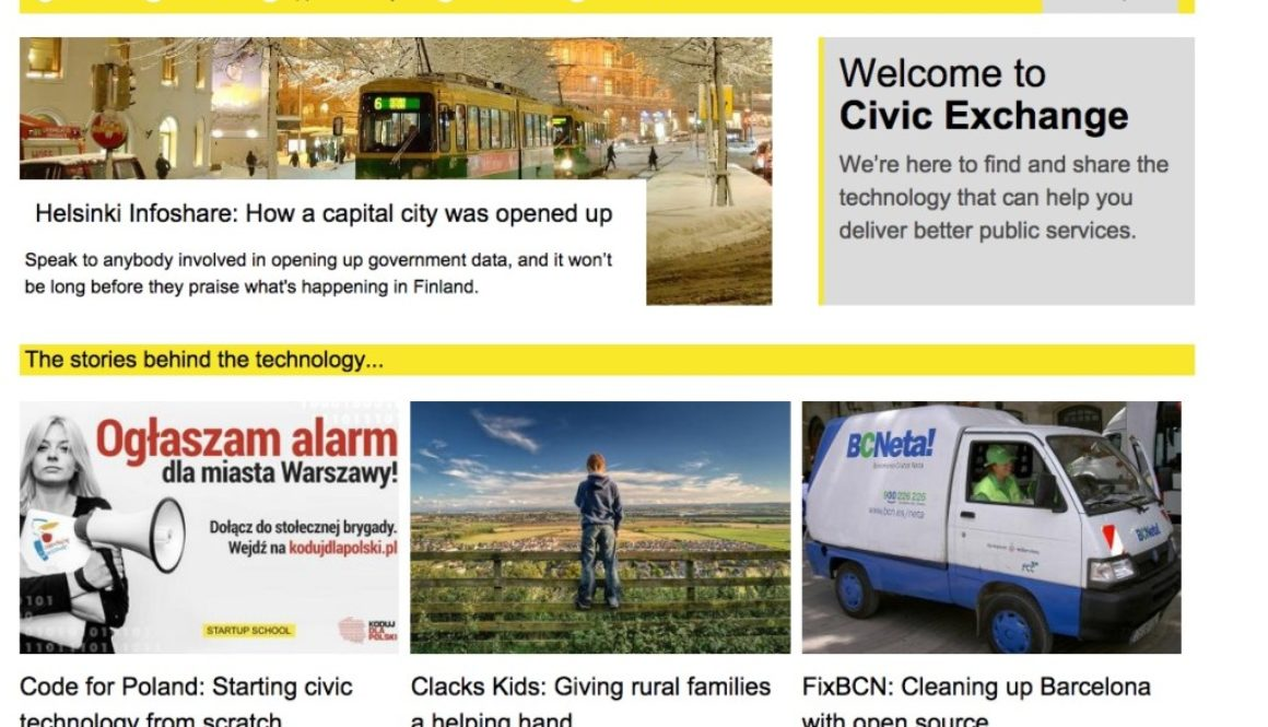 Civic Exchange homepage screenshot