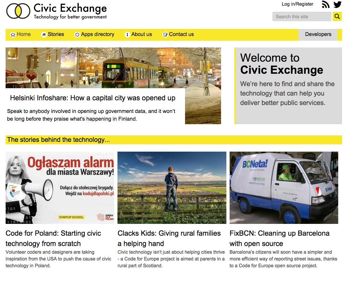 Civic Exchange homepage.