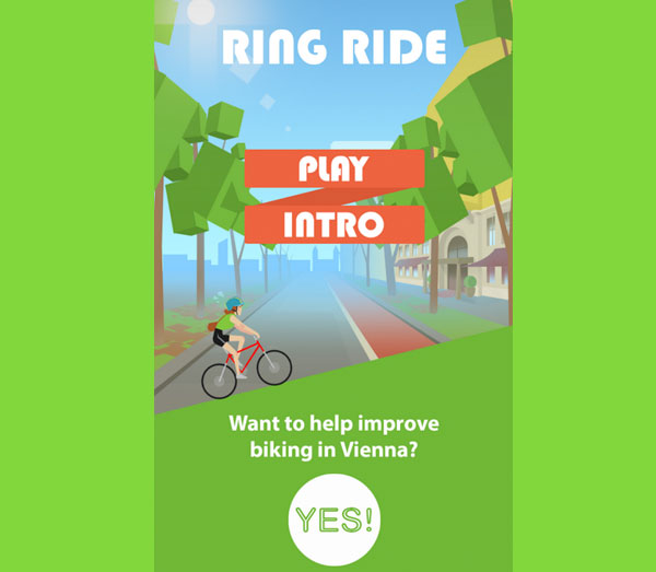 Screenshot: RingRide bike game