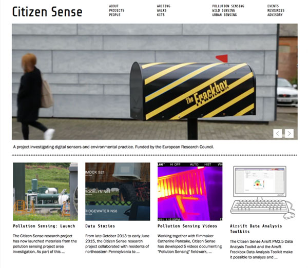 Screenshot: Citizen Sense