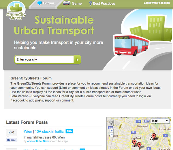 Screenshot: GreenCityStreets forum
