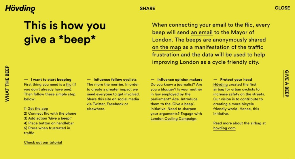 Give-a-Beep website screenshot