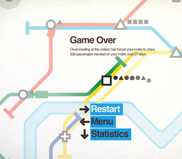 Screenshot: Mini Metro Game