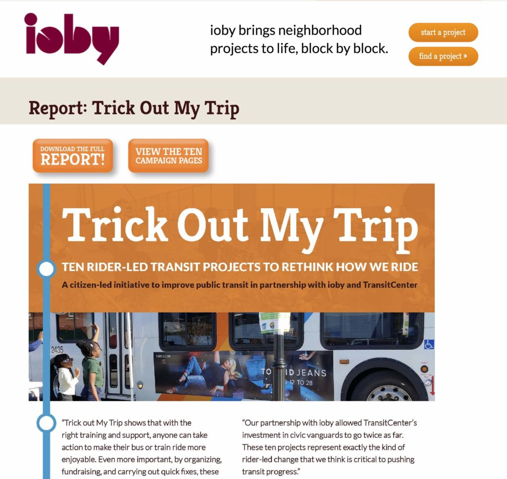 ioby Transit Center Trick Out My Trip Report