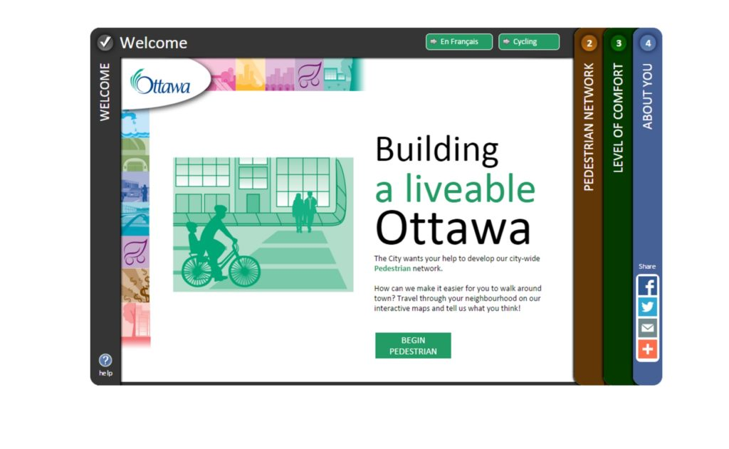 MetroQuest Ottawa Pedestrian and Cycling Plans
