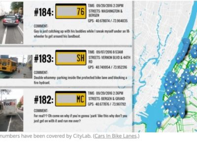 Cars in Bike Lanes – Crowdsourced Map
