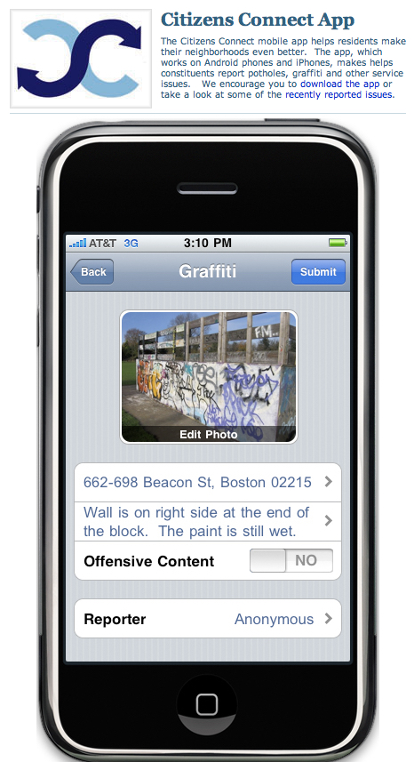 Boston Citizen Connect App