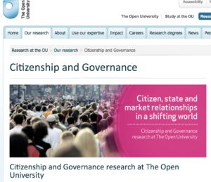 Open University website screenshot.