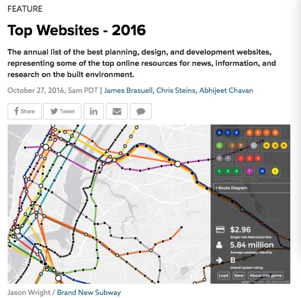 Planetizen Best Websites 2016 - screenshot