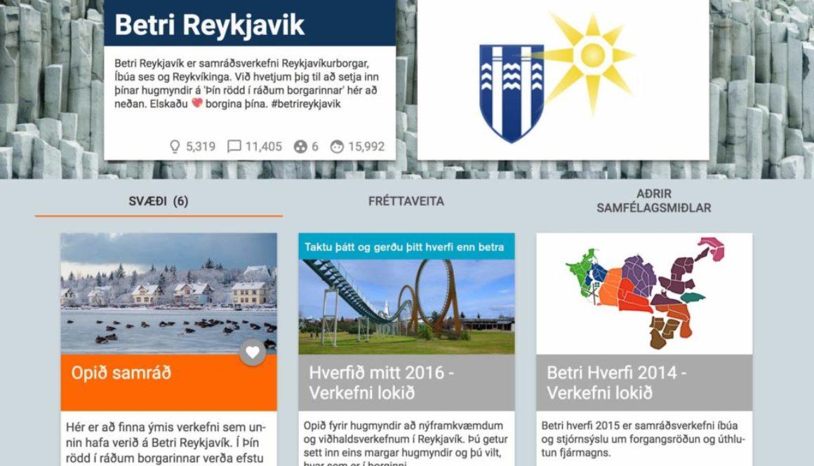 Better Reykjavik website.