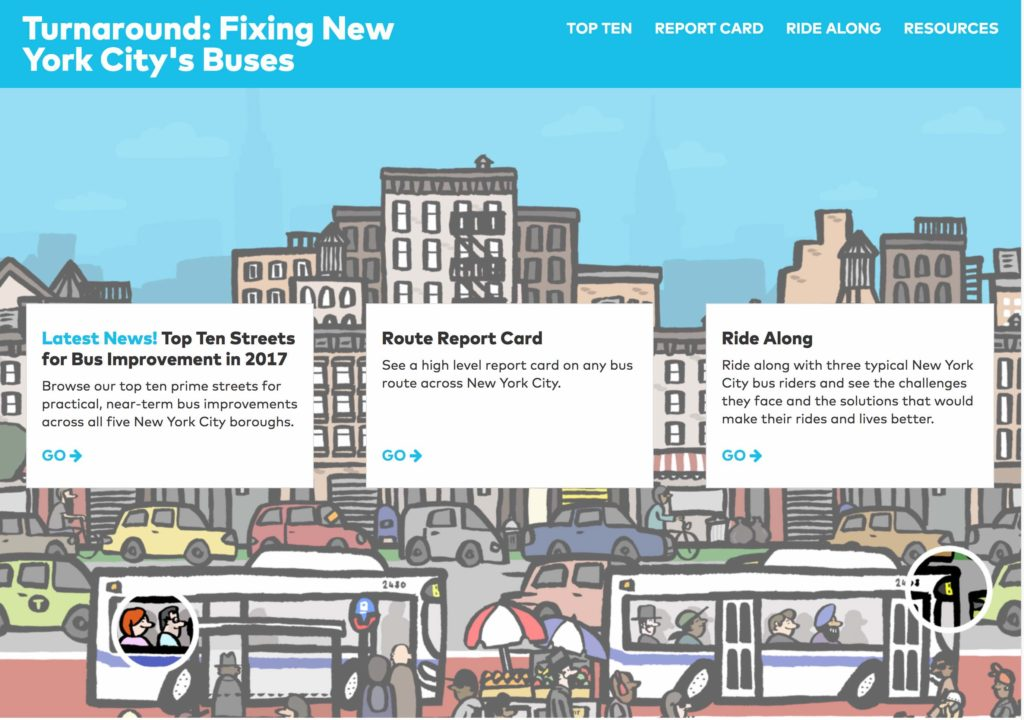 Screenshot: Turnaround campaign from Transit Center NY