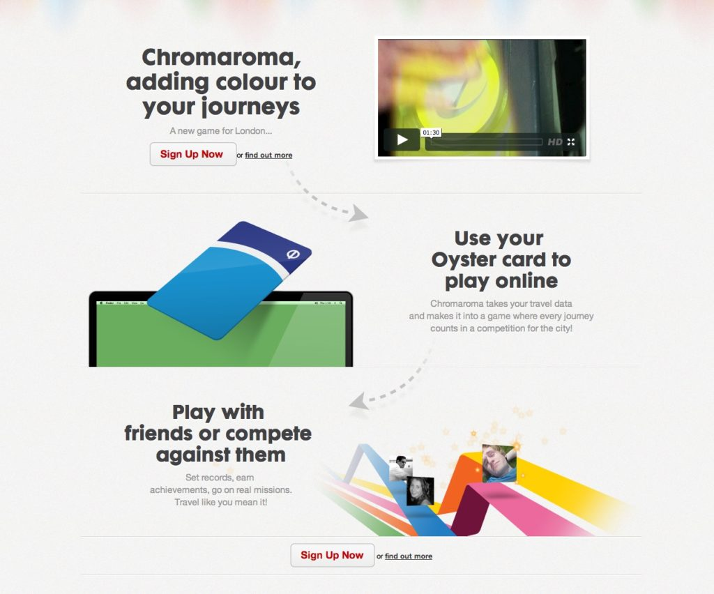 Screenshot: Chromaroma Website