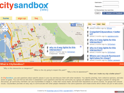 citysandbox home page