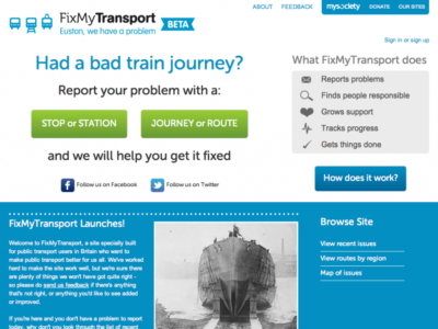 FixMyTransport Home