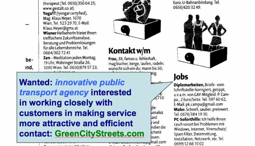 GreenCityStreets is looking for an innovative public transport agency!