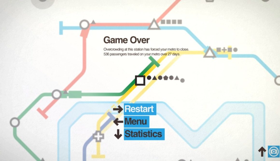 Screenshot from Mini Metro Game