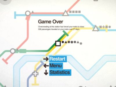 Screenshot from Mini Metro Game