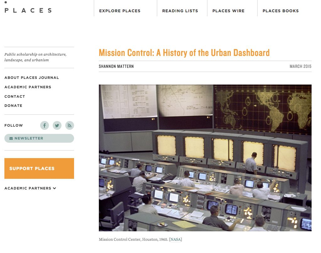 Smart city control room from Places magazine.