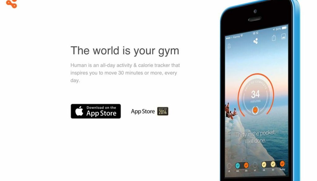 Human app home page April 2015