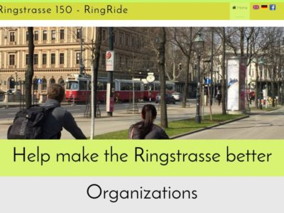 Ringstrasse150 - Ring Ride website screen shot.